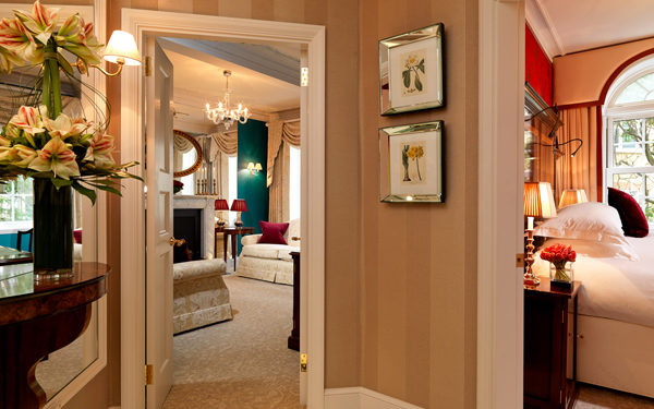 A suite at The Goring Hotel, London. Interiors designed by Russell Sage Studio Ltd.