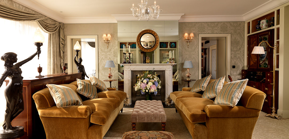 The Royal Suite at The Goring Hotel, London. Interiors designed by Russell Sage Studio Ltd.