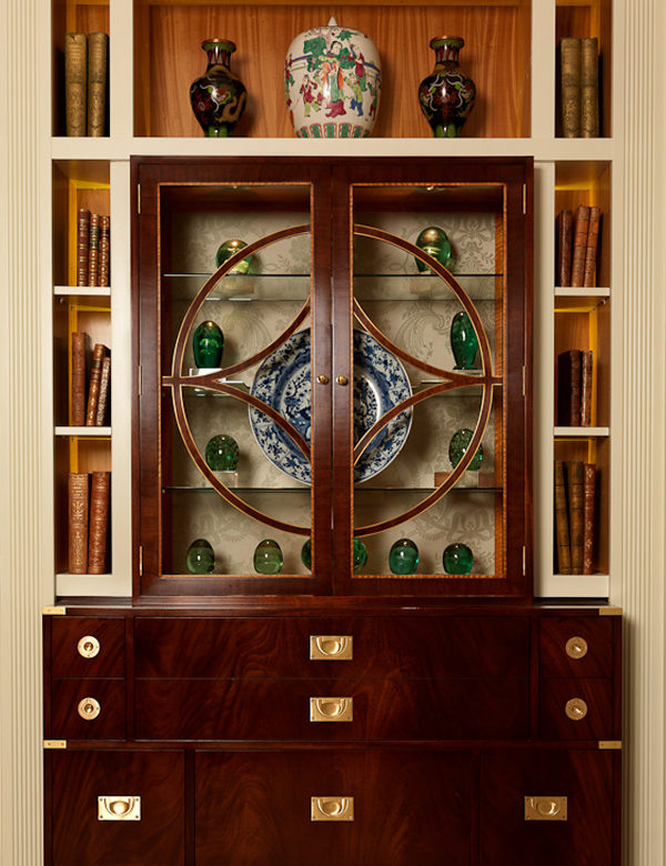 A beautiful cabinet at The Goring Hotel, London. Interiors designed by Russell Sage Studio Ltd.