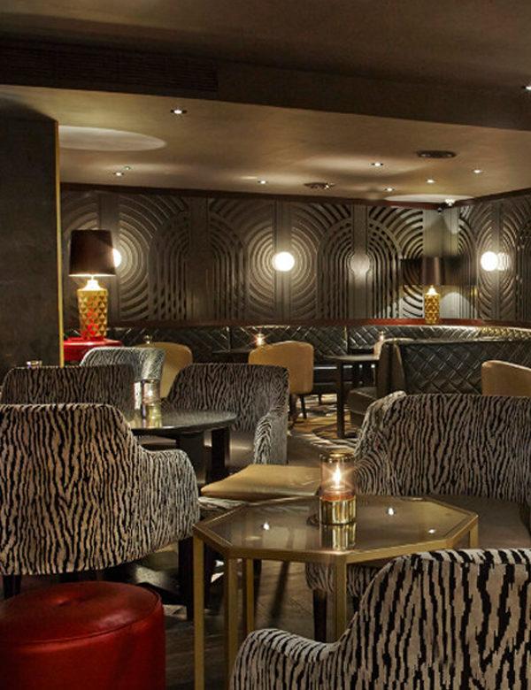 Lounge bar at Quaglino's London. Interiors designed by Russell Sage Studio Ltd.